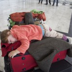 Sleeping on the Luggage