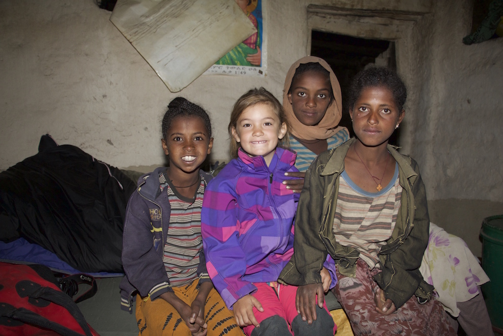 Back in Anouk's favourite place in Ethiopia – the remote mountain village Zik'allay